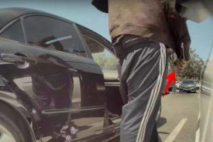 Tesla sentry gravando ladrão
