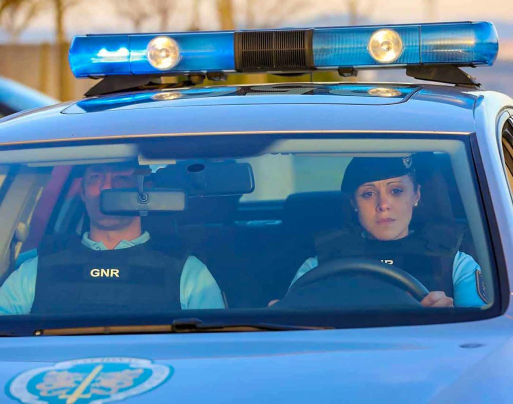 GNR brigada em ação de detenção