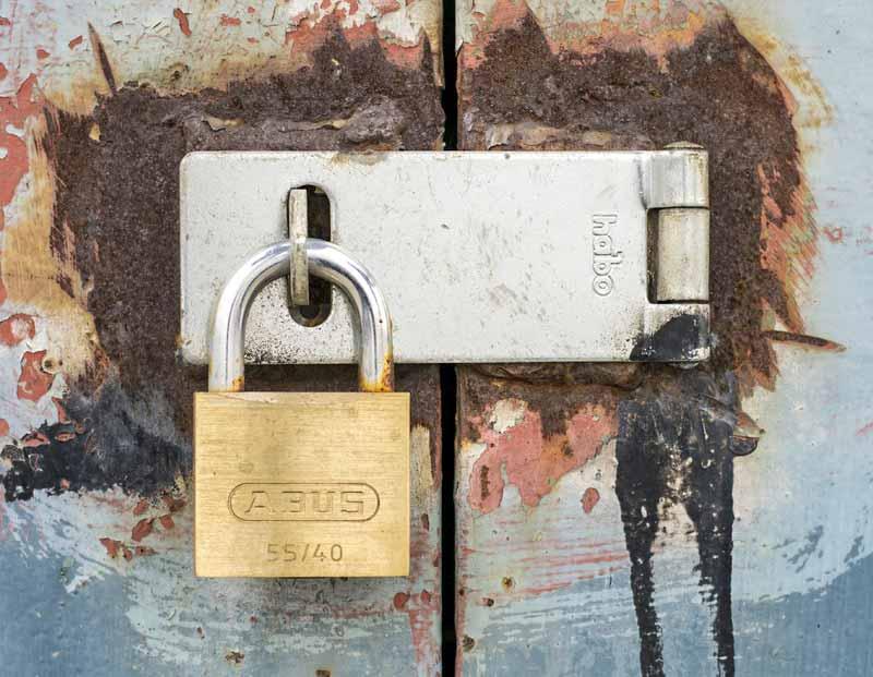 Cadeado portão garagem Crime