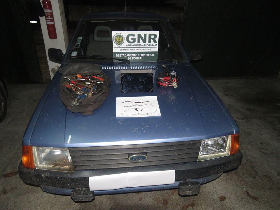 Homem de 41 anos detido em Pombal ao volante de viatura furtada