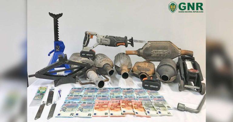 Catalisadores furtados, recuperados pela GNR em Barcelos