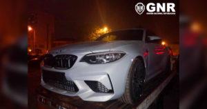 BMW Furtado em Guimarães recuperado pela GNR em Vila Nova de Gaia