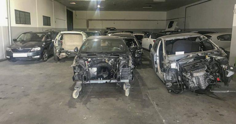 Mais 5 viaturas furtadas, recuperadas pela GNR em armazém de desmantelamento em Barcelos