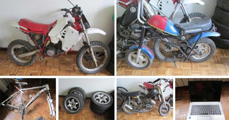 Motociclos, peças de carro e bicicleta furtados, recuperados pela PSP em Bragança