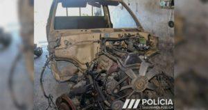 Toyota Hilux, furtada e desmantelada