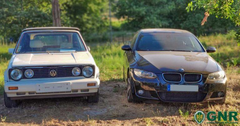Viaturas de marcas VW e BMW, furtadas, recuperadas pela GNR na Póvoa de Lanhoso