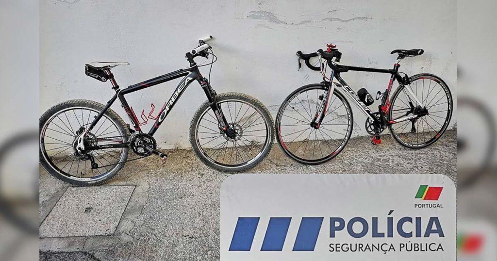 Bicicletas furtadas, recuperadas pela PSP de Faro