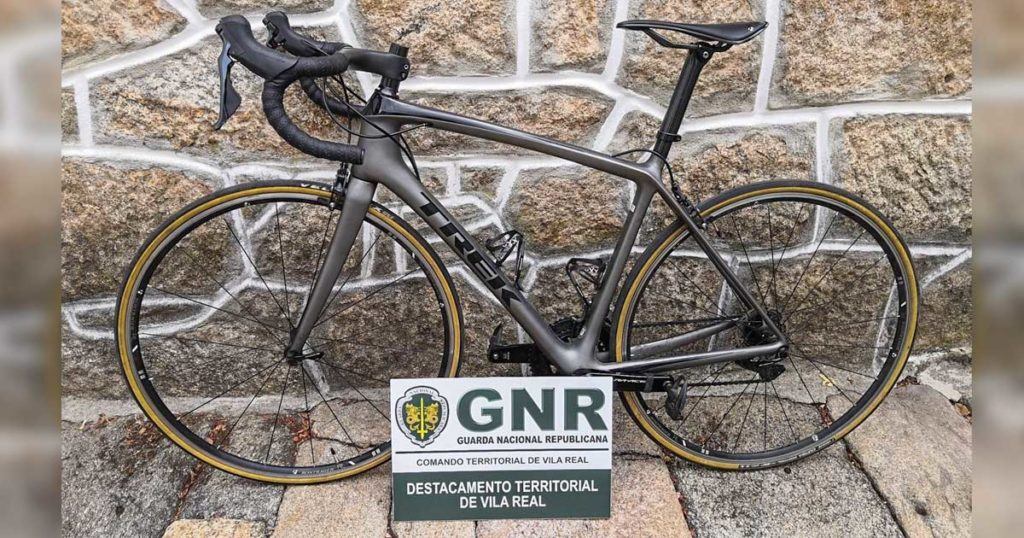 Bicicleta furtada em Vila Real, avaliada em 5000 euros, recuperada pela GNR
