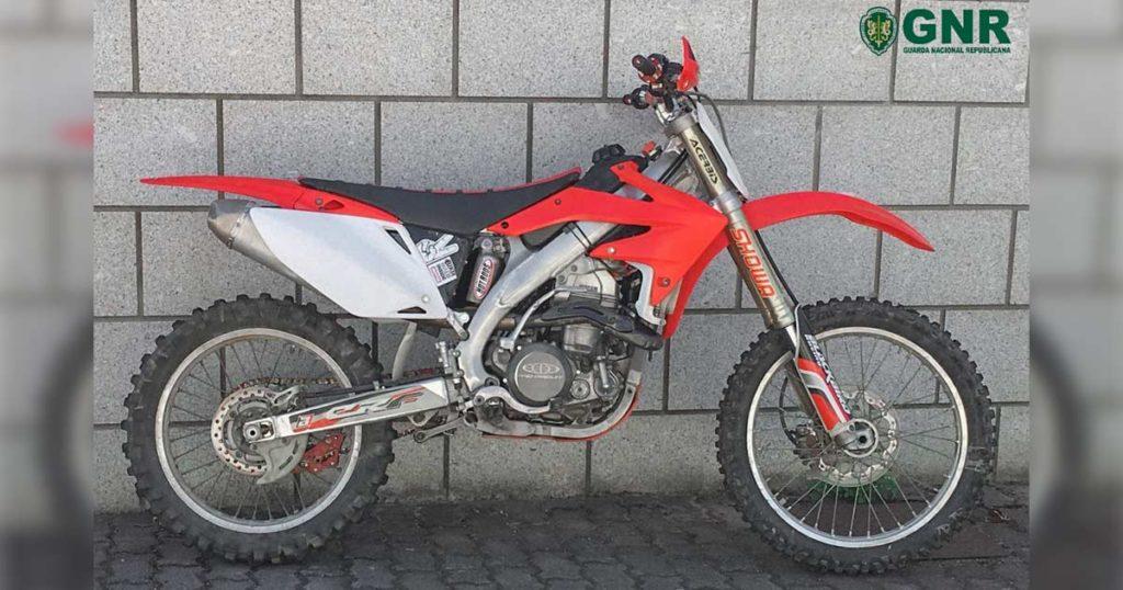 Motociclo recuperado pela GNR em Vimioso estava dado como furtado