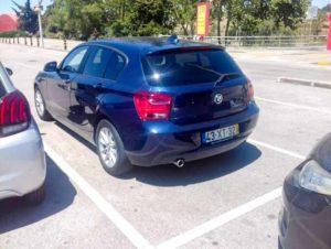 BMW serie 1 azul furtado em algés