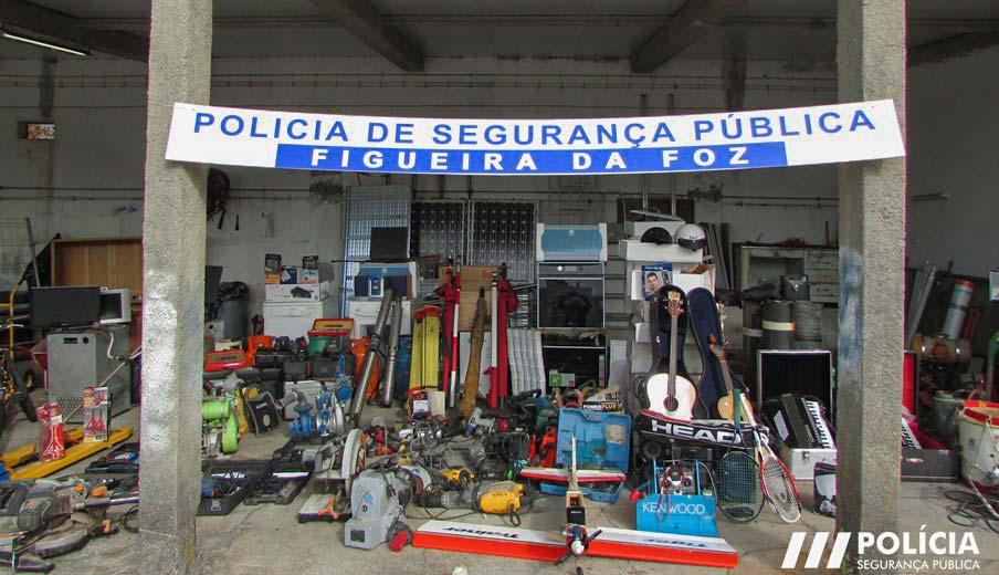 Materiais recuperados estavam na casa de um homem de 67 anos de idade, na Figueira da Foz