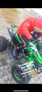 quad moto 4 furtada ou roubada na campanhã porto