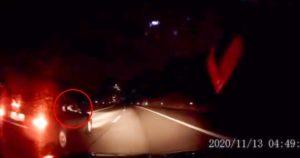 Honda civic com três suspeitos tentou roubar viatura em plena A1 em carjacking