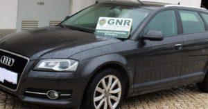 Audi A3 furtado em Setúbal, recuperado pela GNR