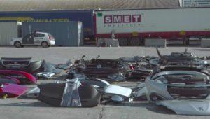 Peças de carros furtados em França, apanhadas pela Guardia Civil a caminho de Marrocos