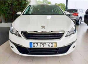 Peugeot 308 sw branca furtada em ramalde porto
