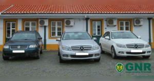 2 mercedes e 1 VW Passat apreendidos em operação contra burlas MBWAY em Borba