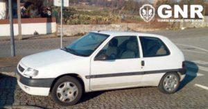 Citroen Saxo, cor branca, furtado em Paredes e recuperado pela GNR