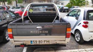 Pickup traseira Mitsubishi L200 furtada em Belém Lisboa