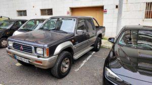 Pickup Mitsubishi L200 furtada em Belém Lisboa