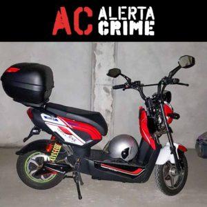 Moto Vortex One eléctrica furtada leiria alerta crime