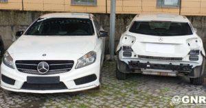 Mercedes Class A, brancos, furtados, recuperados pela GNR em Amarante