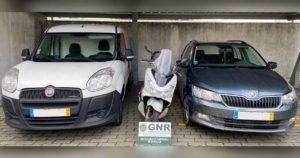 Viaturas Fiat, Honda e Skoda, furtadas, recuperadas em Barcelos pela GNR