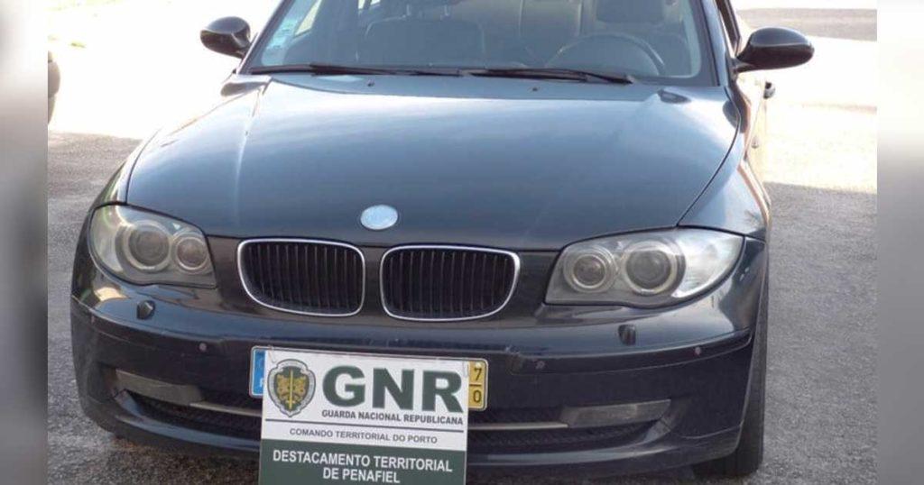 BMW série 1, furtado em Paredes, recuperado pela GNR